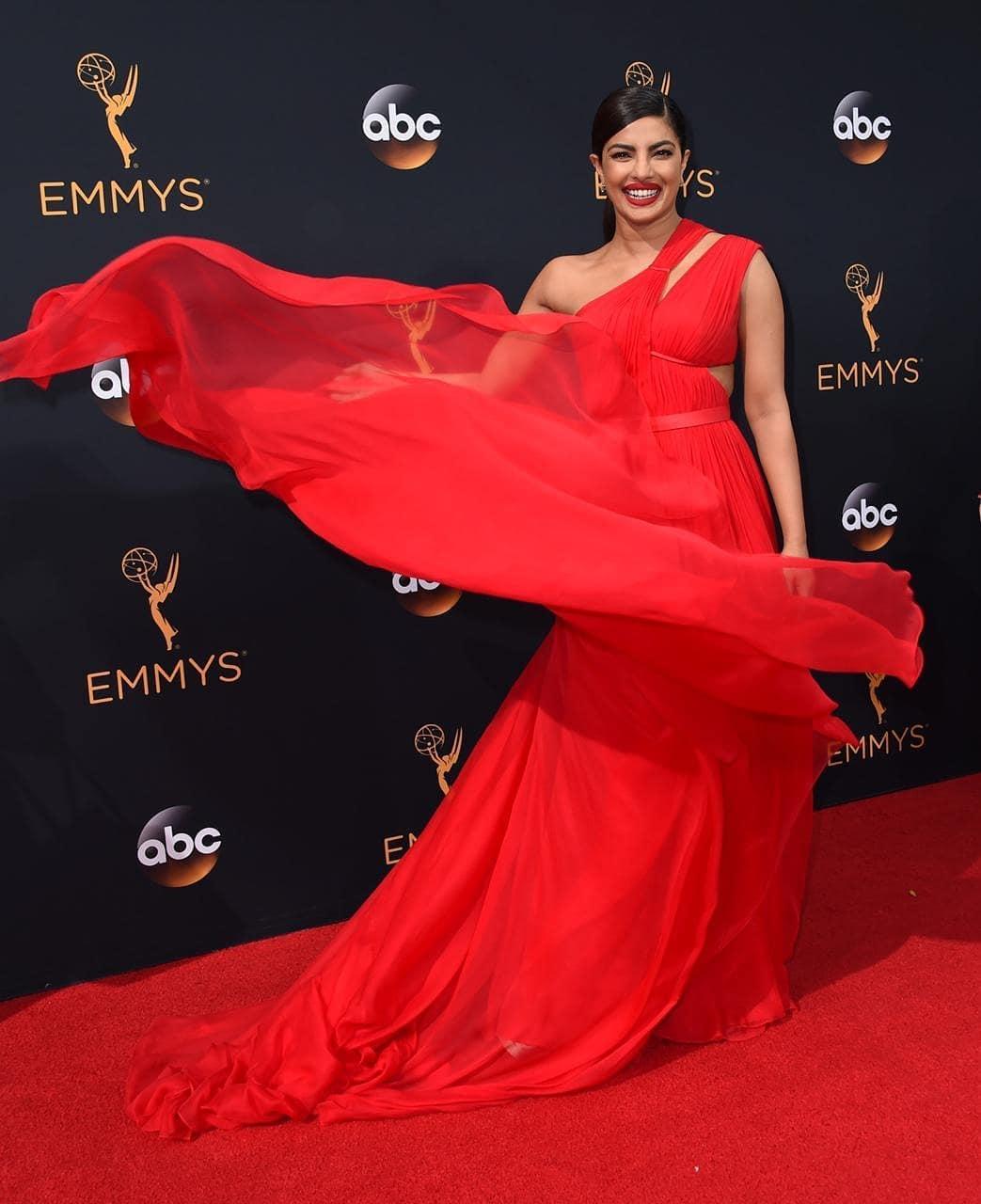 Priyanka Chopra in red dress HD images