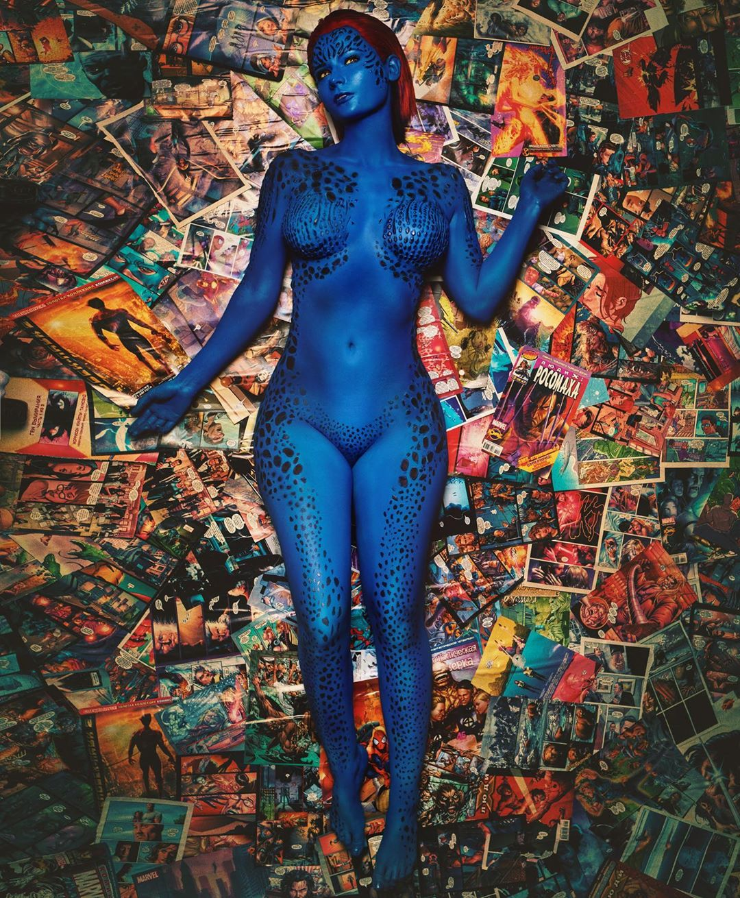 Mystique cosplay by Jannet