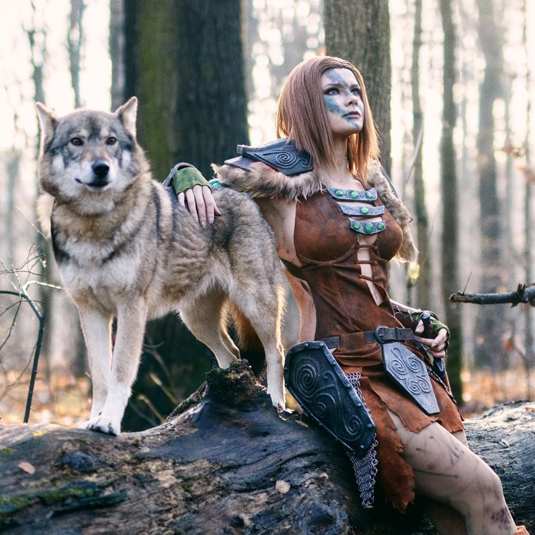 Aela the Huntress cosplay by Jannet