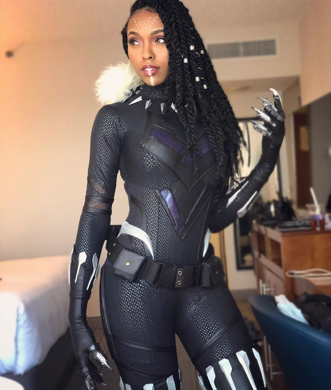 blackpanther cosplay by CutiePieSensei
