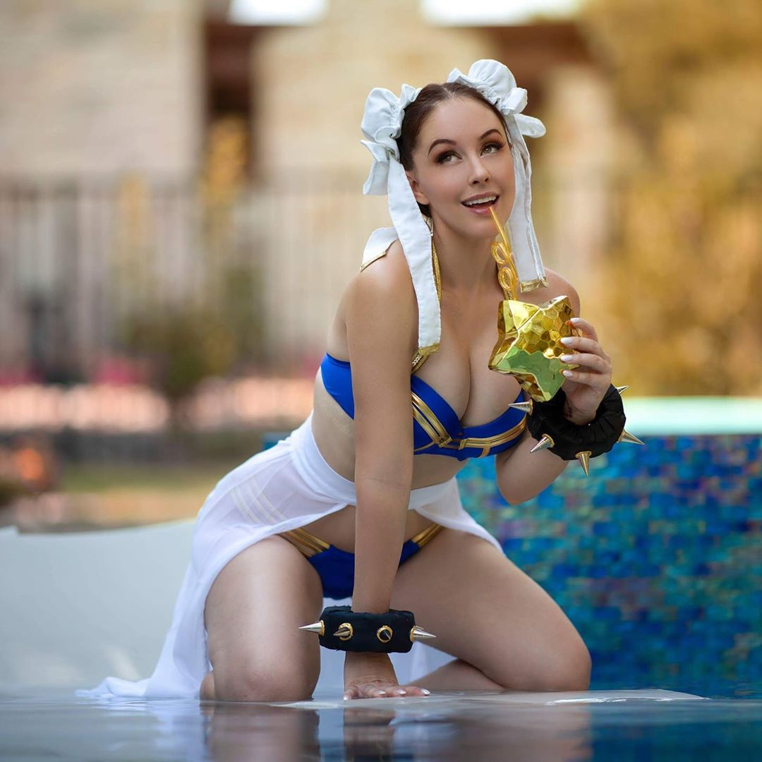 Chun Le  Street Fighter hot cosplay by Meg Turney