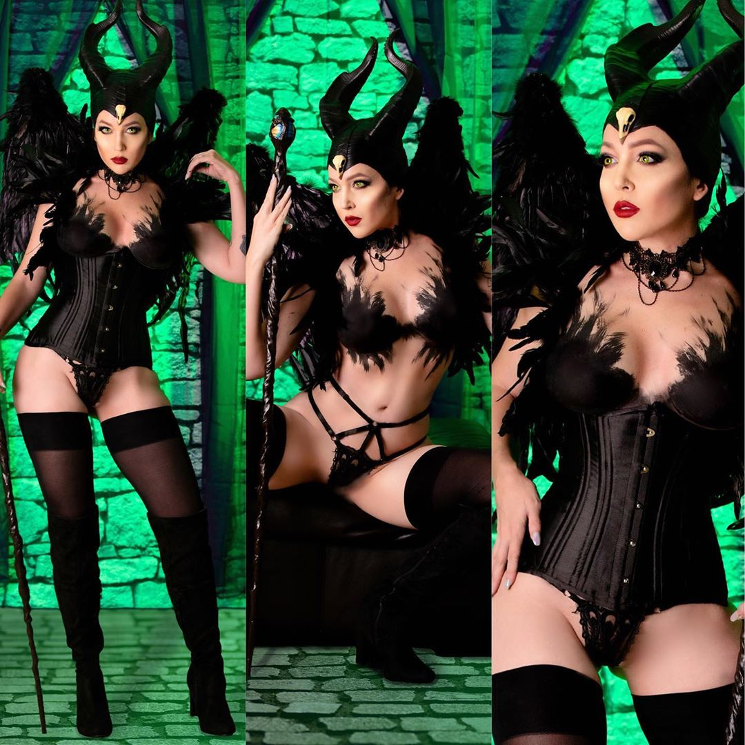Maleficent cosplay by cosplayer Nicole Marie Jean